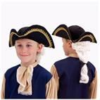 Colonial Hat with Wig Child